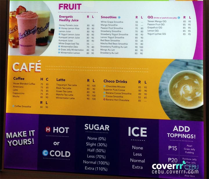 Chatime, IT Park, Cebu | Coverrr